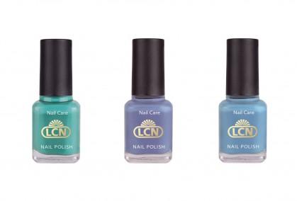 Die Farben des Meeres hat LCN jetzt mit der Limited Edition Underwater Love aufgegriffen und präsentiert die drei faszinierenden Farbtöne caribbean sea, ein leuchtendes Türkisgrün, lilac coral, ein dezentes Violett, und underwater love, ein frisches Mittelblau.