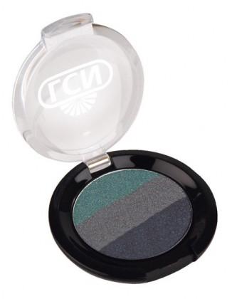 Der Special Mono Eyeshadow, for your eyes only, in den harmonisch aufeinander abgestimmten Farben Petrol, Silber- und Dunkelgrau lässt viel Spielraum für einen glamourösen Look.