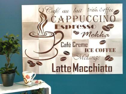 wandschablone-cafe